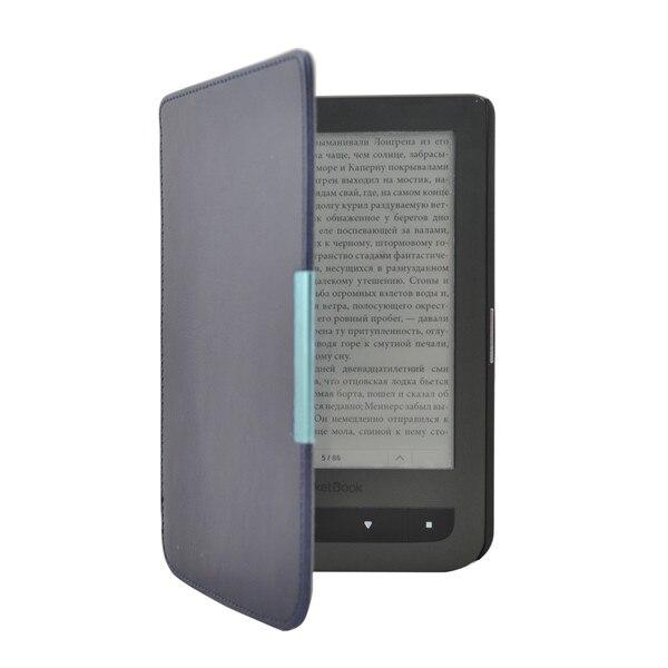 Ultra fino de cuero pu funda para Pocketbook Touch LUX 3 rojo rubí para el bolsillo 614 más bolsillo 615/625 eReader