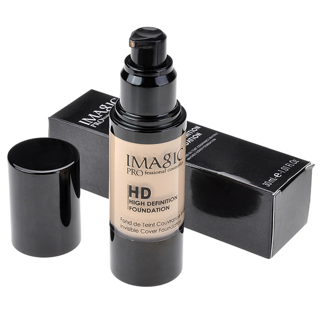 IMAGIC Professional Whitening Moisturizing HD Liquid Foundation Concealer Highlight Shadow Makeup Cosmetic
