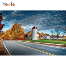 Yeele Rural Route Countryside Road House Cloudy Sky Tree Scenery Photography Backgrounds Photographic Backdrops For Photo Studio