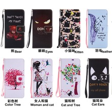 Painted Book Style Flip Wallet PU Leather Case Stand Cover Skins For LG Leon C40 Spirit C70 k7 K8 K10 2017 G4 Stylo V10 LS770 стоимость