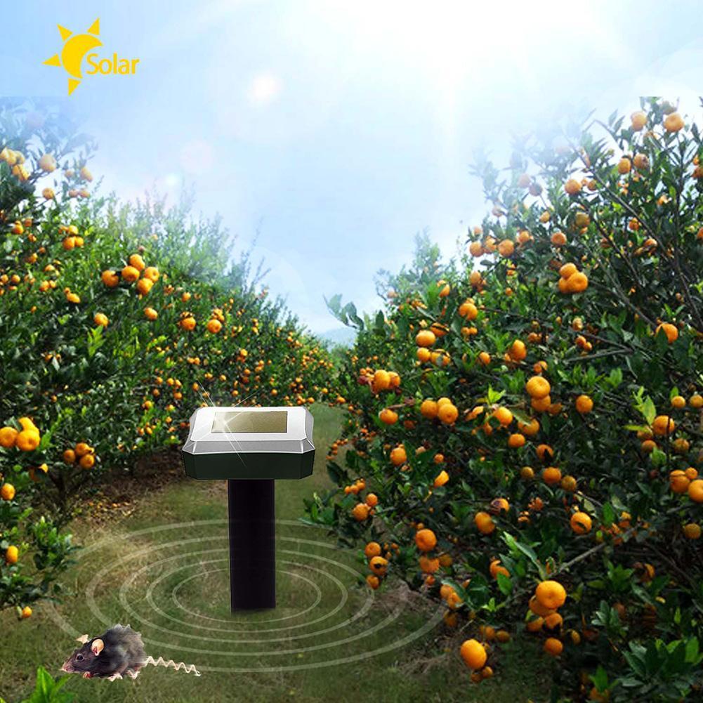 Outdoor Garden Solar Power Mole Repellent Ultrasonic Mole Snake Bird Mosquito Mouse Ultrasonic Pest Repeller Control Garden Yard
