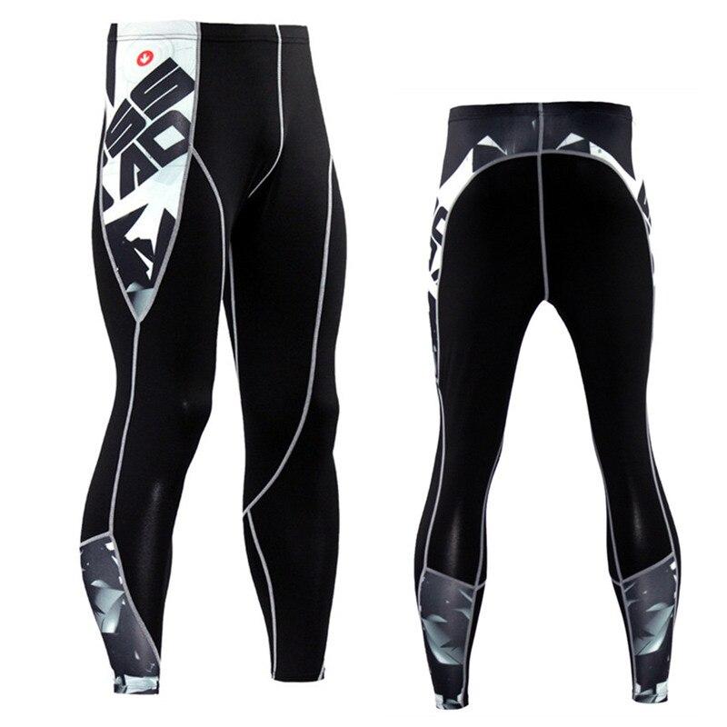 Для мужчин сжатия кожи Колготки Леггинсы для женщин бег трусцой тренажерный зал тренировки Кроссфит Бодибилдинг мужской дне MMA брюки фитнес спортивные штаны