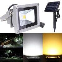 10W Solar Power LED Flood Night Light Waterproof Outdoor Garden Decoration Landscape Spotlight Wall Lamp Bulb