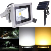 10W Solar Power LED Flood Night Light Waterproof Outdoor Garden Decoration Landscape Spotlight Wall Lamp Bulb