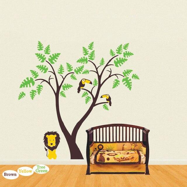 baby nursery tree wall decal vinyl sticker tree wall sticker lion