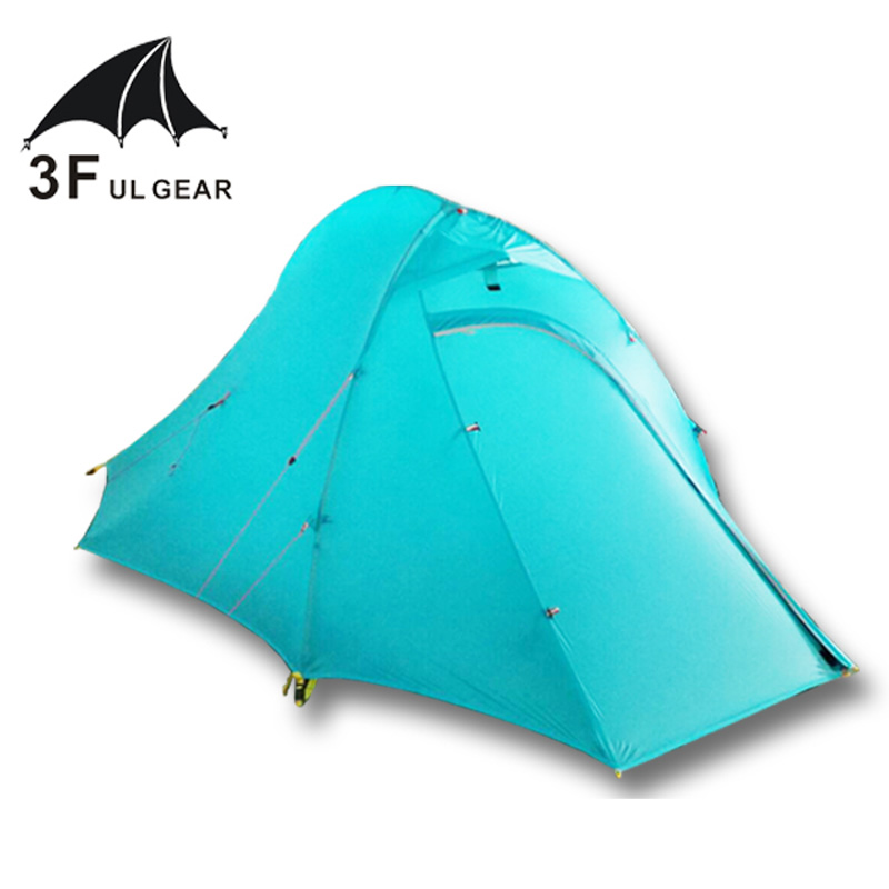 3F UL Gear Zhengtu2 15D silicon Coating 2-person 4-Season  Ultralight Camping Tent with Matching Ground Sheet starbaits kosy ground sheet