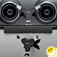 Auto Telefon Halter Für Audi A3 S3 360 Grad Drehbare Air Vent Halterung Unterstützung Handy Auto Zubehör Drahtlose aufladen