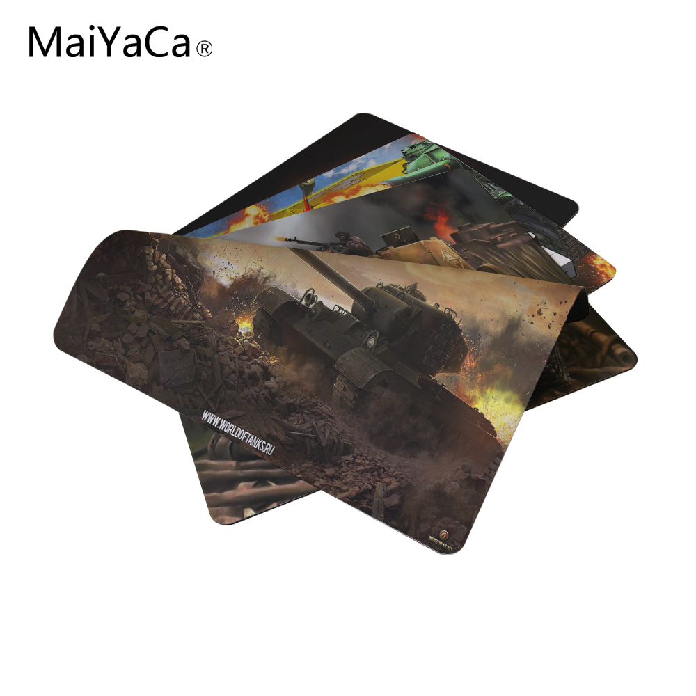 MaiYaCa Tank cool Silicone Rectangular Mouse Pads Mice Mat Mouse Pad 18*22cm and 25*29cm