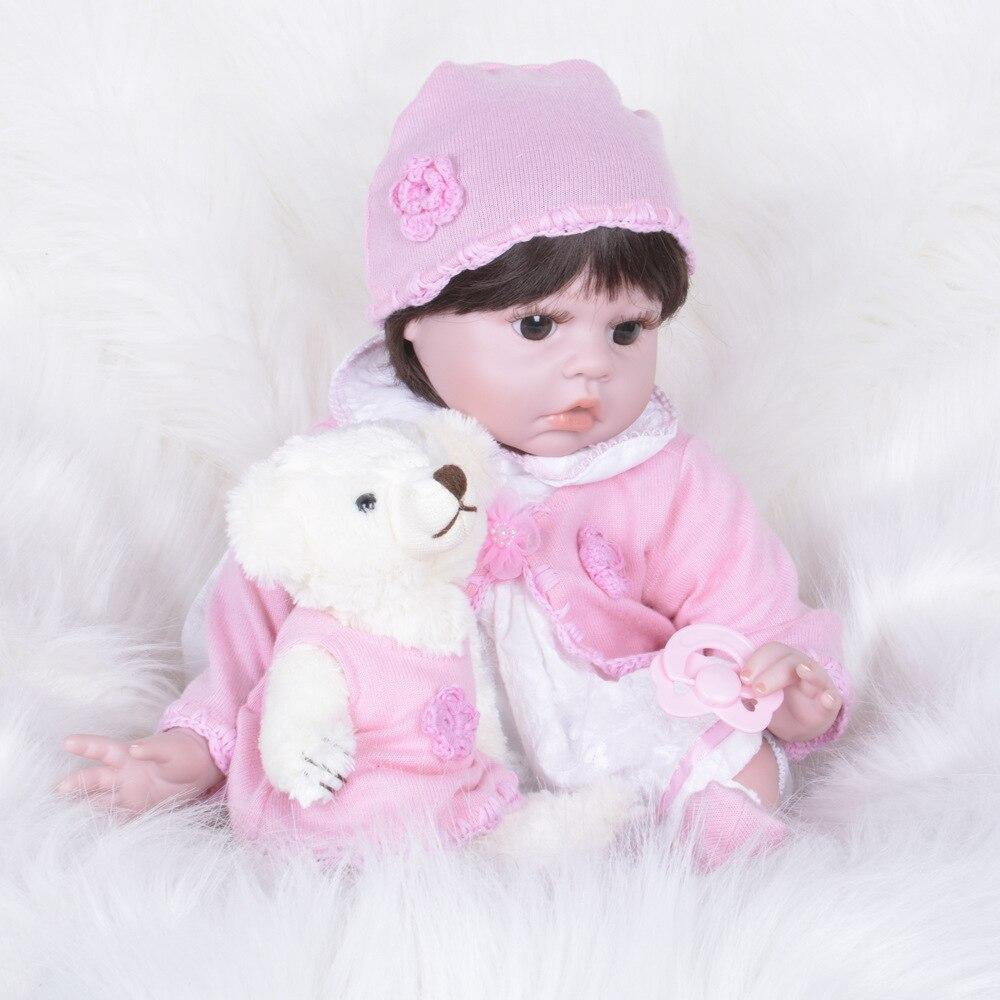 55cm/22inch Reborn Doll Vinyl Doll Lifelike Newborn Baby Toddler Cute Baby Doll Christmas Gift Sweet Brinquedos
