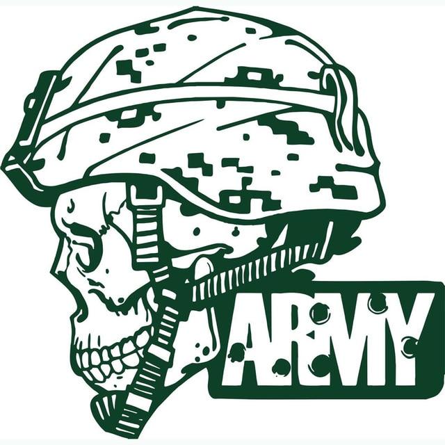 Hot Sale Big Army Military Soldier Skull Camo Decals Army Man Portrait Popular Wall <font><b>Mural</b></font> <font><b>Home</b></font> Decorative Vinyl Wallpaper Y-653