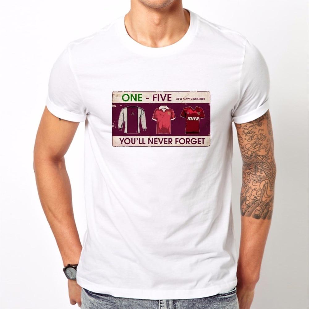2018 Summer New Men Printed Round Men T Shirt Cheap Footballer Hearts Casuals Retro Top Away Days Ultras Soccers Gift cheap Tees