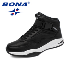 Shoes Basketball-Shoes Sneakers New BONA Outdoor Men Lace-Up Comfortable Classics-Style