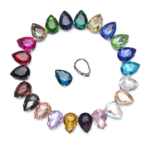 New !mix Color  Crystal Glass Sew-on Rhinestones with Claw DIY Dresses and Clothes13*18 10*14 7*10 18*25 20*30
