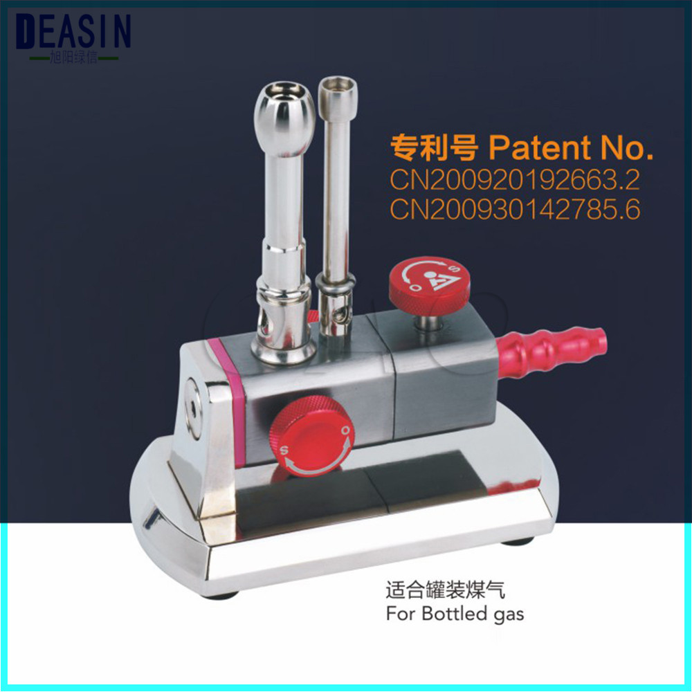 Dental Lab Equipment Micro Bunsen Burner Double Tube Rotatable Gas Propane Light Dental Lab Equipment 1 pieces dental equipment rotatable single tube dental gas light bunsen burner alone duct gas lights for dental laboratory
