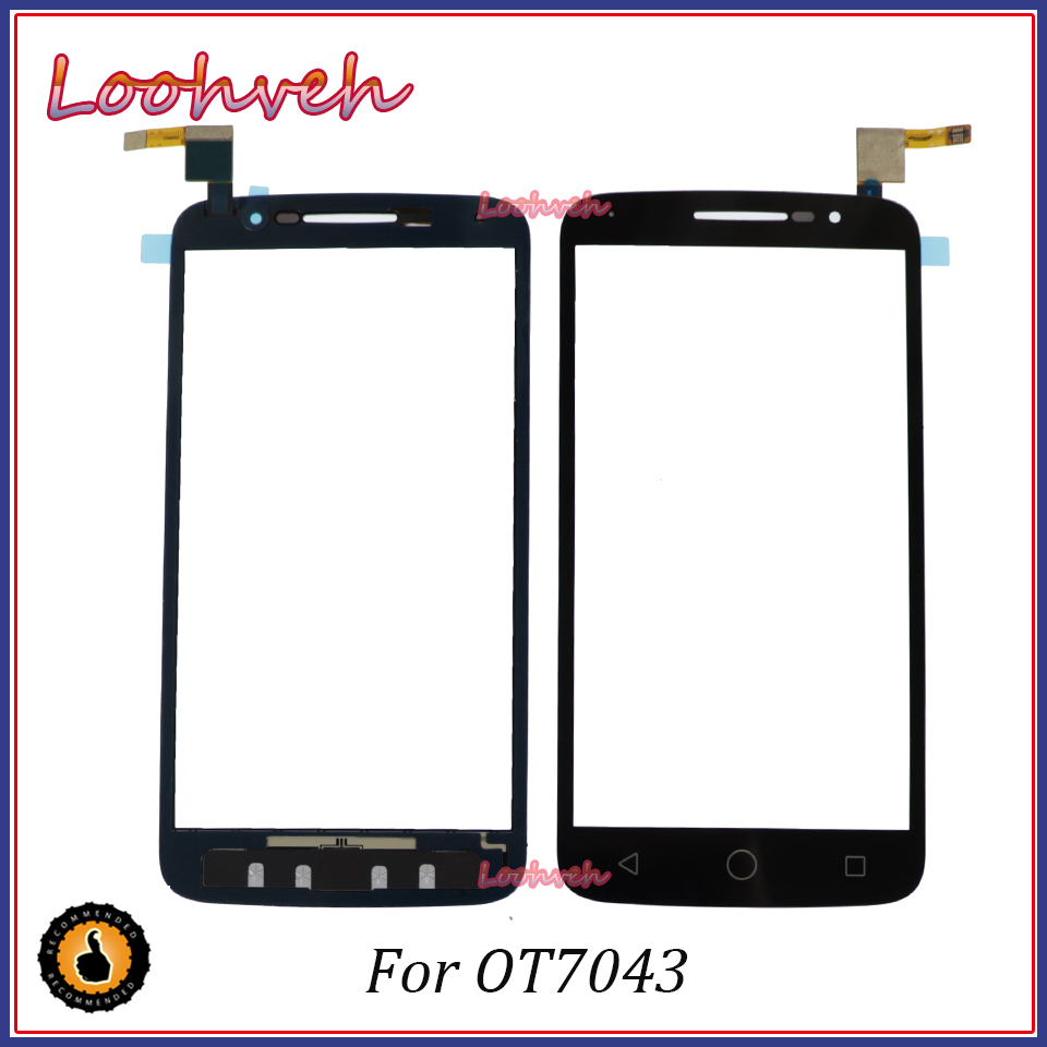 High Quality <font><b>Touch</b></font> Panel Sensor Touchscreen For Alcatel One <font><b>Touch</b></font> POP 2 OT <font><b>7043</b></font> OT7043 <font><b>Touch</b></font> Screen Front Glass Digitizer Parts image