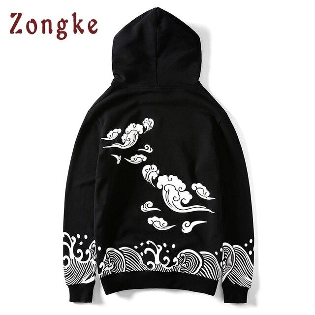Zongke Japanese Harajuku Hoodies Men Oversize Hip Hop Black Hoodie Men  Streetwear Male Hooded Sweatshirt Men Clothes 2018 31b09d949c85