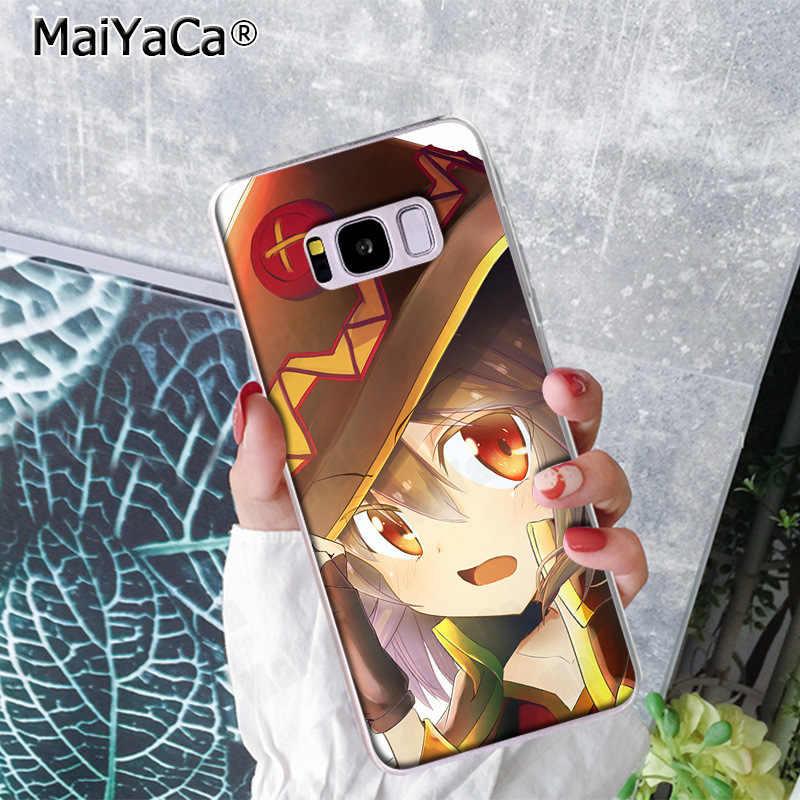 Japão Anime Konosuba MaiYaCa Megumin Estilo Caso Proteger Casos de Telefone para Samsung S9 S9 plus S5 S6S6edge S6plus S7S7edge S8 s8plus