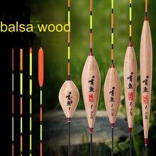 Bouée en bois de haute qualité, flotteur Vertical, accessoires de pêche en eau peu profonde, à la carpe