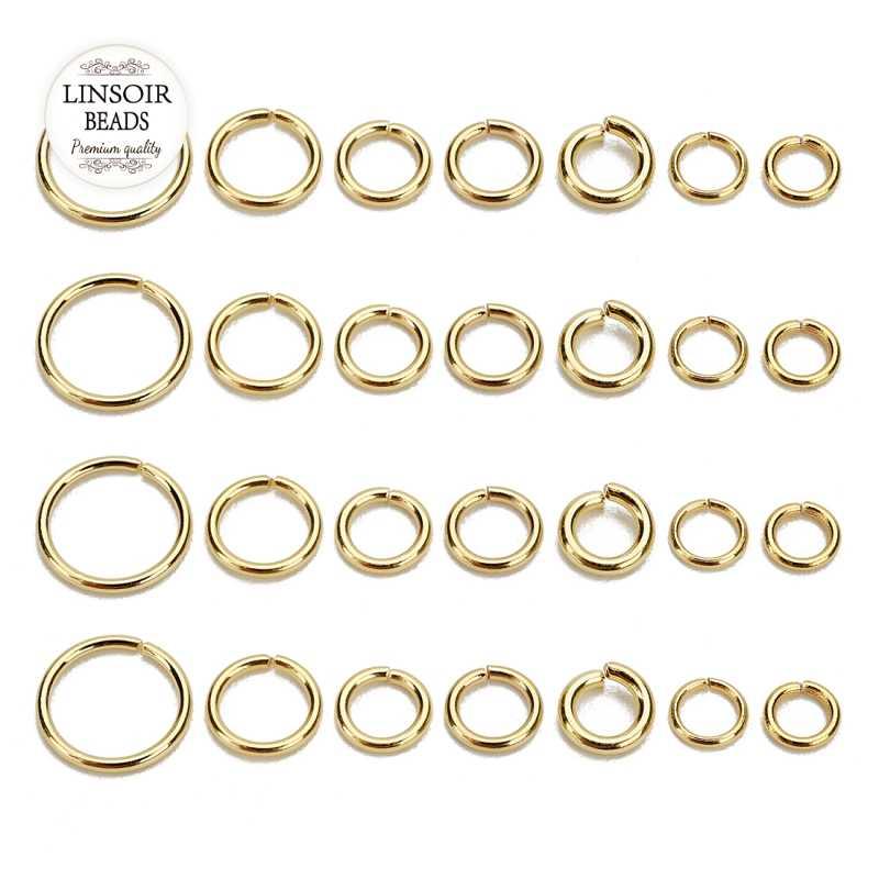 ขายส่งเครื่องประดับสร้อยคอเชื่อมต่อ Jump แหวนสแตนเลส Links ตะขอ Clasps สำหรับสร้อยข้อมือ Charms Dangle