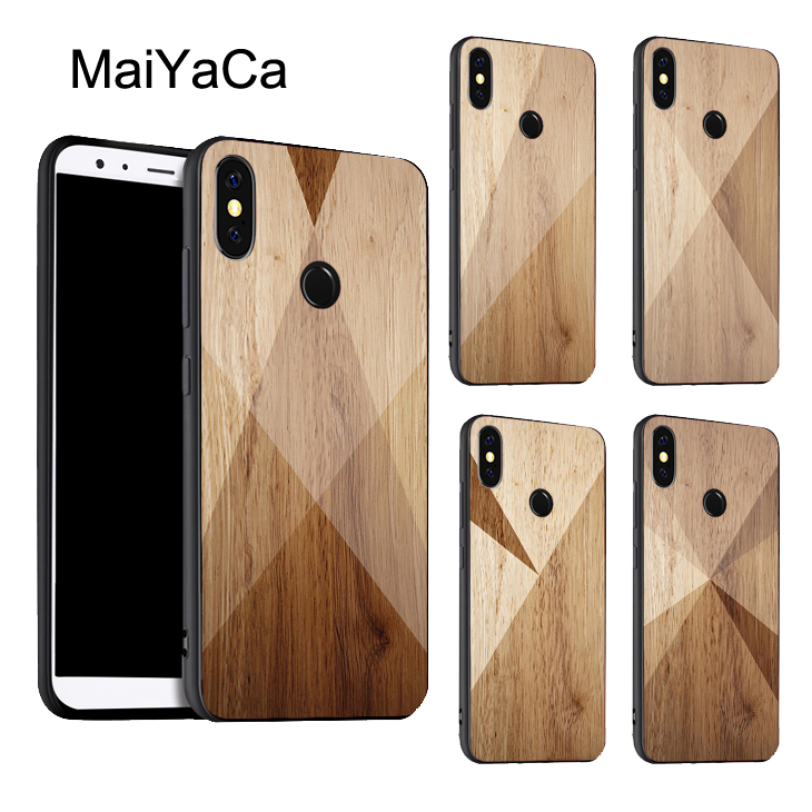 half off 31624 ad800 US $2.89 5% OFF|MaiYaCa GEOMETRIC WOOD COLLECTION Case For Xiaomi Redmi  Note 5 Pro Plus Note4X Note4 Mi 8 SE 6 6X Max 3 Mix 2 2S Back Cover-in  Fitted ...