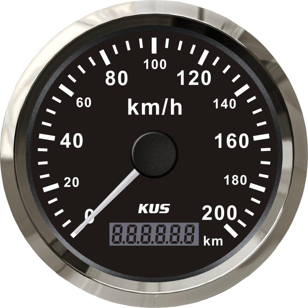 ホークス 85 ミリメートルユニバーサルキロ GPS スピードメーター走行距離毎時 200 キロの速度で GPS アンテナ防水ゲージ赤と黄色の使用可能  グループ上の 自動車 &バイク からの 速度計 の中 1