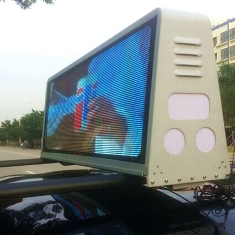 3G/WIFI Control 960*320mm Two Sides IP65 P5 Taxi Roof Video LED Display Taxi Top LED Sign Car Top LED Screen Cab Top LED Sinage3G/WIFI Control 960*320mm Two Sides IP65 P5 Taxi Roof Video LED Display Taxi Top LED Sign Car Top LED Screen Cab Top LED Sinage