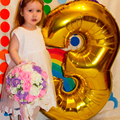 Figure Balloons 40 ballon Large Blue Pink Number balloon Helium Foil Balloons Happy Birthday Party New Year Decoration Balloon