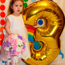 """Figure Balloons 40"""" ballon Large Blue Pink Number balloon Helium Foil Balloons Happy Birthday Party New Year Decoration Balloon"""