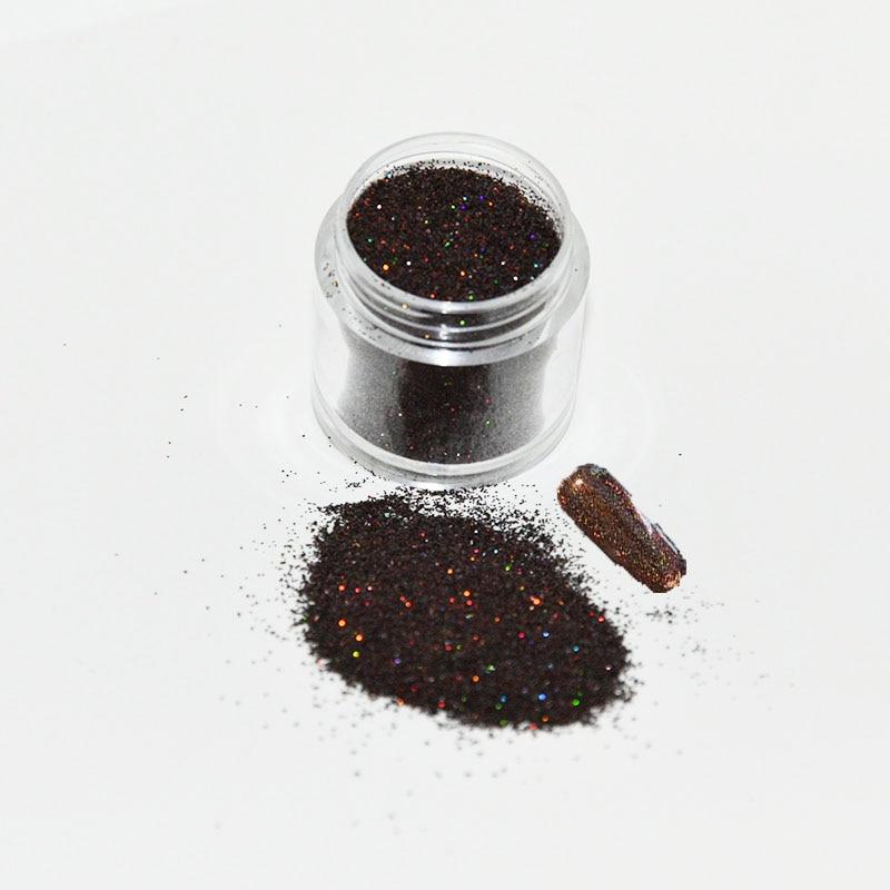 10g/jar 0,2 Mm 008 Zoll Kaffee Braun Holographische Ultra-dünne Glänzende Neueste Mode Nagel Holographische Laser Pulver Glitter Den Speichel Auffrischen Und Bereichern