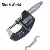 0 25mm Metric Imperial Digital Display Micrometer External Micrometer 0 001mm 0 00005 Inch Caliper Gauge