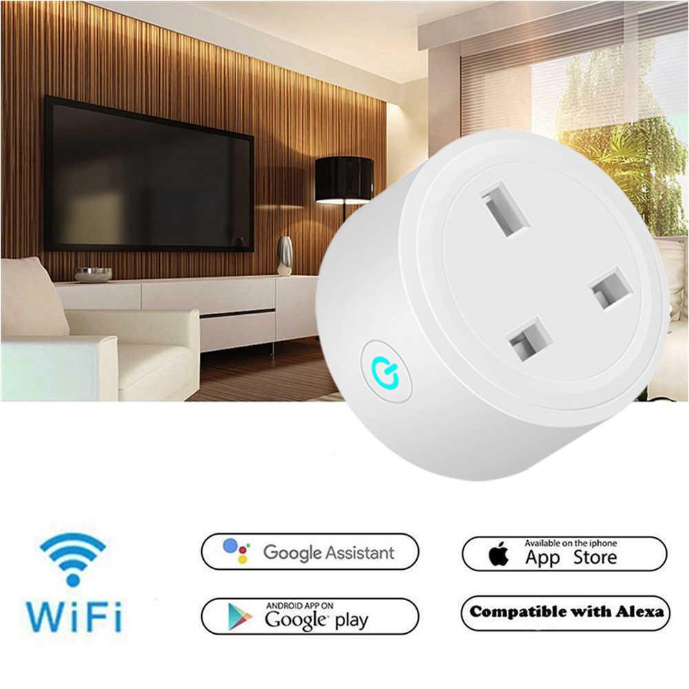 Умный штекер Wifi умная розетка монитор питания ЕС голосовой пульт дистанционного управления домашняя Автоматизация вилка работа с Google Home Alexa IFTTT