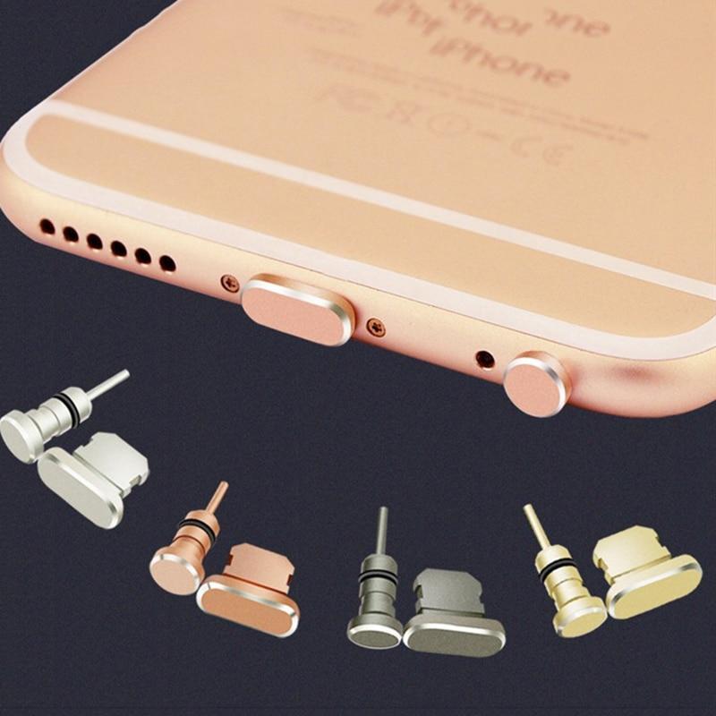 KMAX 3 in 1 Metal Alloy Earphone Jack Anti Dust Plug Earphone for iphone 7 8 X SD BisonFone Telephone USB Plugs Headphone Plug