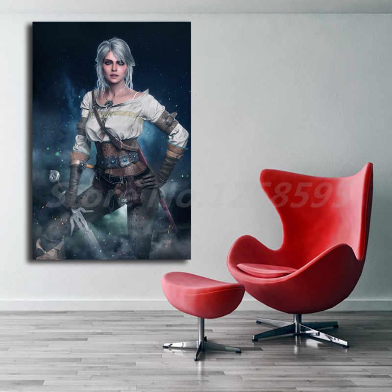 مثير امرأة خلفية لعبة قماش اللوحة طباعة غرفة المعيشة ديكور المنزل الحديثة لوحة زيتية جدارية المشارك الفني