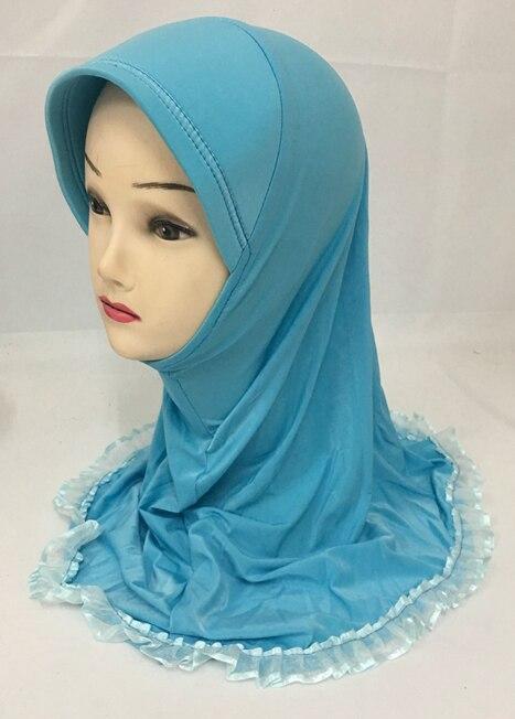 (12 Teile/los) 2017 Neue Stil Kleine Mädchen Hijab Kinder Moslemischer Schal Xhgt019 Eine GroßE Auswahl An Waren