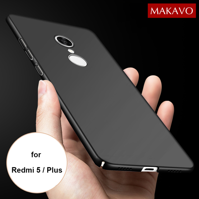 detailed look c5607 b6ece US $3.37 25% OFF|MAKAVO for Xiaomi Redmi 5 Plus Case 360 Protection Slim  Matte PC Hard Back Cover for Xiaomi Redmi5 Phone Cases Housing-in Fitted ...