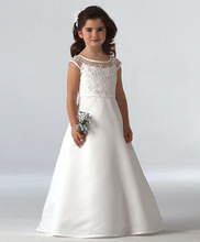 Girls Lace Flower Girl Dresses For Weddings 2020 A-Line Holy First Communion Dresses Girls Pageant Gowns 2017 two pieces lace flower girl dresses for weddings vintage pageant gowns communion