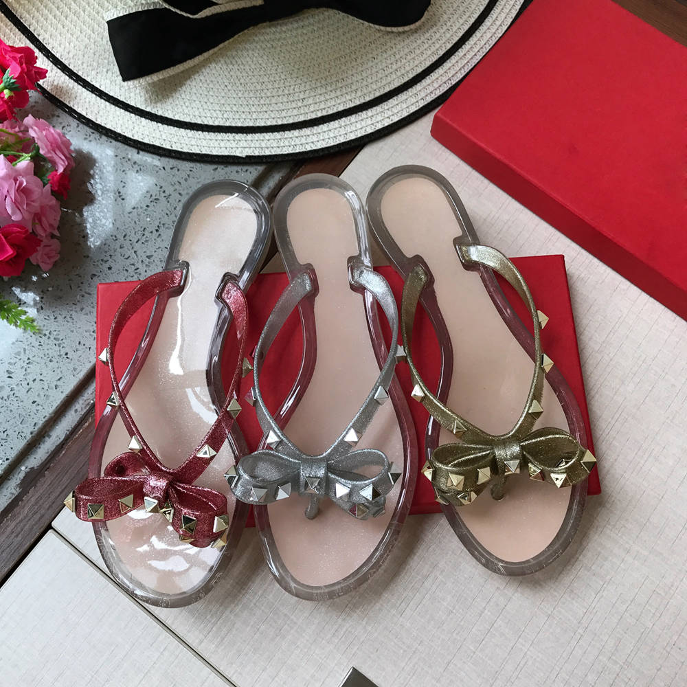 Stkehidba Scarpe da Donna Top delle Donne di Estate di Modo Pantofole 35 41 Formato Spiaggia Rivetti Infradito Ecologico scarpe-in Pantofole da Scarpe su  Gruppo 2