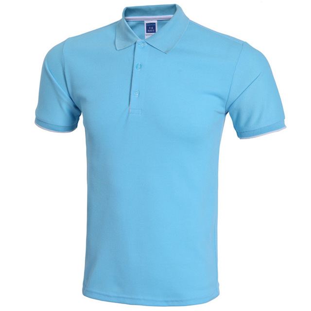 New Sky Blue Polo Shirt Men Polo Homme 2016 Mens Summer Fashion Solid Color Polo Shirts Casual Brand Slim Fit Polos