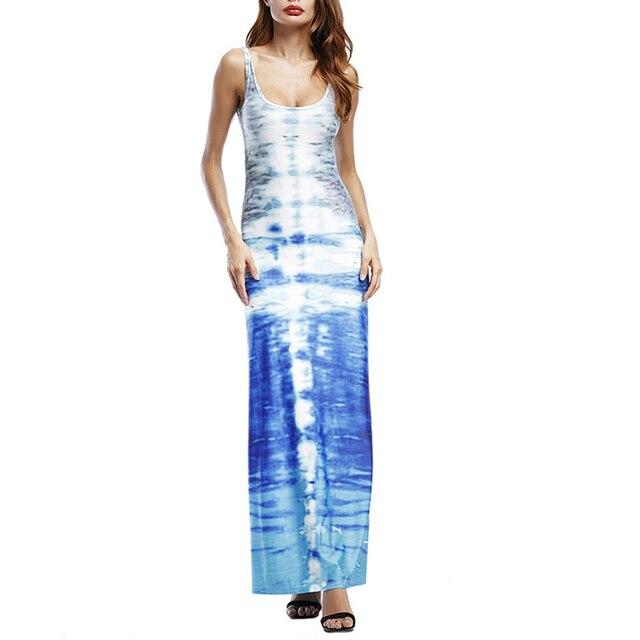AIEnny 2018 Summer Maxi Dress Women Sexy Backless Bohemian Sleeveless Bodycon Dress