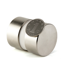 2 шт. супер мощный Dia 40 мм х 20 мм неодимовый магнит 40 х 20 мм магнит диск редкоземельных NdFeB магниты