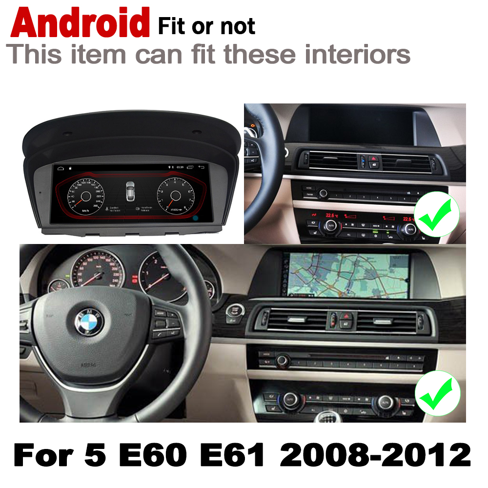 IPS Android 7 0 up car multimedia player gps navigation for BMW 5 E60 E61 2008 2012 CIC original style HD screen 2GB 16GB WiFi in Car Multimedia Player from Automobiles Motorcycles