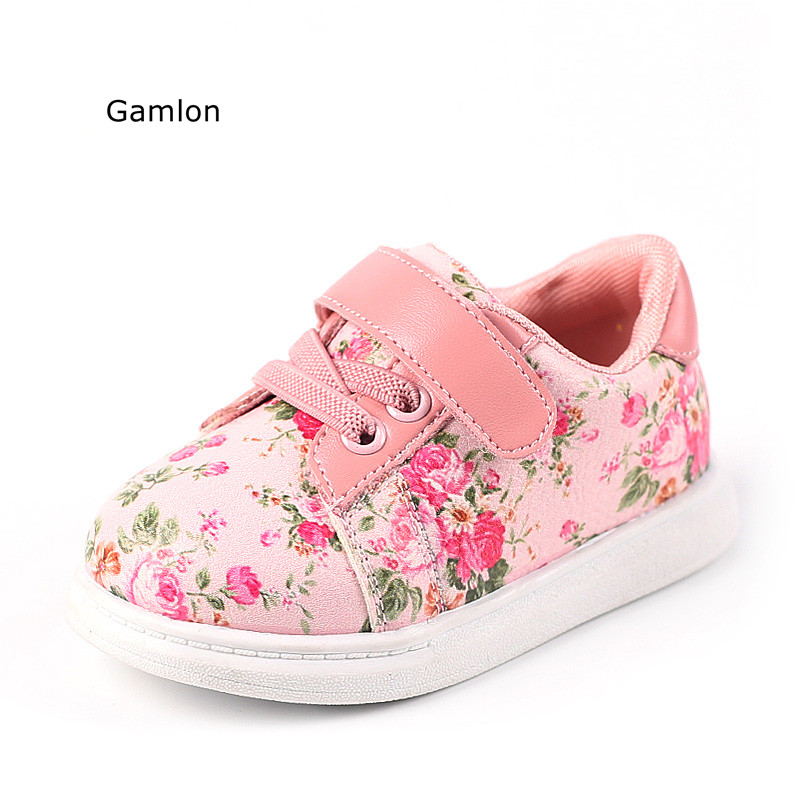 Gamlon Baby's Sneakers 2017 Autumn Small Floral Girls Baby ...