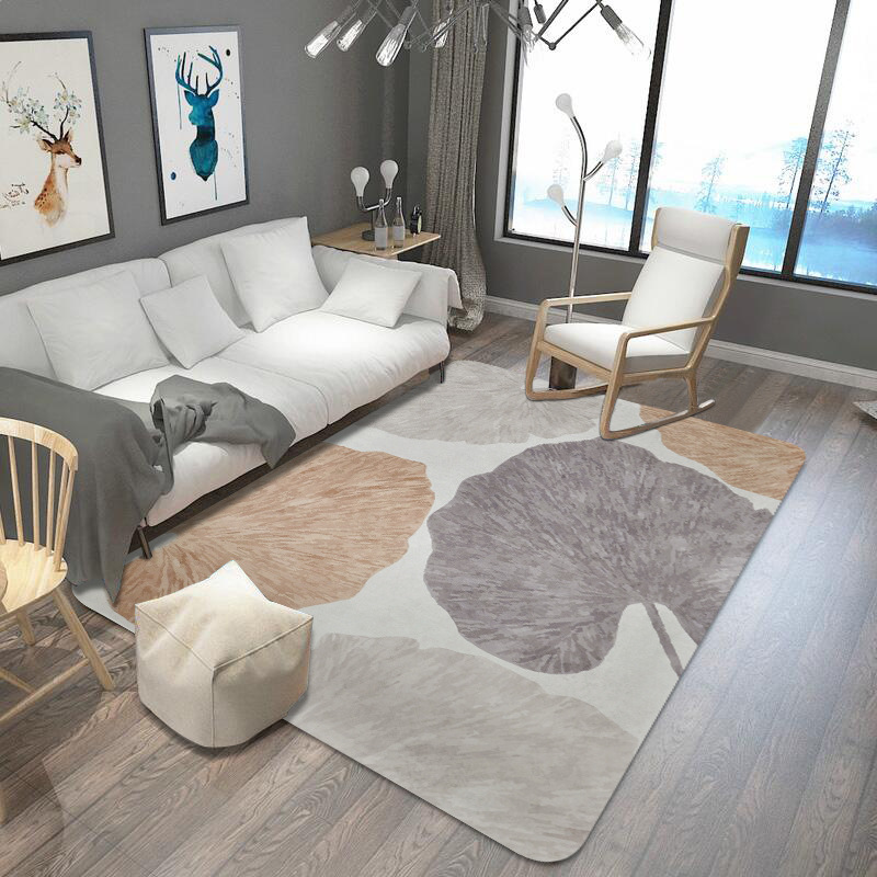Feuilles imprimé tapis et tapis pour salon et chambre tapis de zone douce mode tapis de Table enfants tapis de jeu bébé tapis de sol tapis - 4