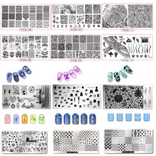 2018 Nail Stamping Plates yicai,spv,dieshan Lacquer DIY Art Manicure Templates Stencils Polish Tools 1PC