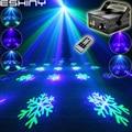 Eshini дистанционный Мини зеленый синий лазерный проектор с 6 узорами снежинки Синий светодиодный бар DJ танцевальный праздничный диско семейн...
