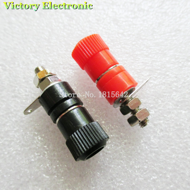 10PCS/LOT Blocks JS-910B Jack Block For Banana Plug Black 5 Red 5