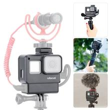 Ulanzi V2 Vlog Gopro Case for GoPro Hero 7 6 5 With Cold Shoe Mount Microphone LED Video Light Camera Accessories