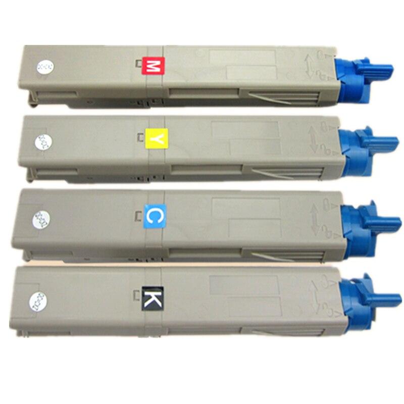 Toner Couleur Compatible cartouche laser pour OKI C3300 C3400 43459324 43459323 43459322 43459321, livraison gratuite
