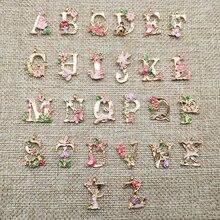 Мода 26 букв цветок DIY браслет ожерелье кулон волосы украшения материал вечерние 1 шт ручной работы материал s