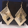 Mulheres Dangle Brincos Elegante do Ouro/Prata Banhado A Queda de Luxo Longo Para As Mulheres Da Moda Jóias boucle d'oreille femme pendante